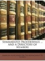 9781148124506 - American Association For The Advancement: Summarized Proceedings ... and a Directory of Members
