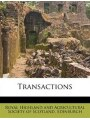 9781286180945 - Royal Highland And Agricultural Society: Transactions - Book