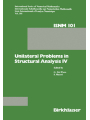 Unilateral Problems in Structural Analysis IV : Proceedings of the fourth meeting on Unilateral Problems in Structural Analysis, Capri, June 14-16, 1989
