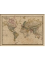9786000011918 - World on Mercator`s Projection by James Wyld c.1861 SMALL