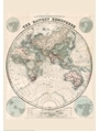 9786000529321 - Stanford`s Eastern Hemisphere Map (1877) - A2 Wall Map, Paper