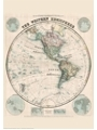 9786000529437 - Stanford`s Western Hemisphere Map (1877) - A2 Wall Map, Canvas