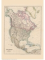 9786000530013 - Stanford`s Folio North America Map (1884) - A3 Wall Map, Canvas