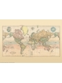 9786000530297 - Stanford`s Library Map of the World (1879) - A4 Wall Map, Canvas - کتاب