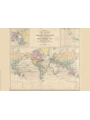9786000530631 - Stanford`s Route Map of the Earth Colour (1854) - A2 Wall Map, Canvas - کتاب
